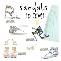 """""""Cute Summer Sandals"""" by molly2222 ❤ liked on Polyvore featuring Ted Baker, Dsquared2, René Caovilla, Aquazzura, Heidi London and summersandals"""