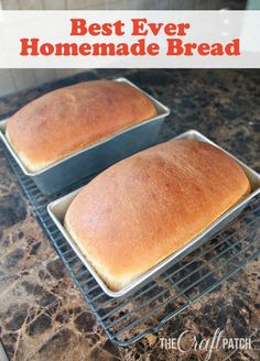 After testing dozens of homemade bread recipes, this is the BEST EVER homemade bread! So soft and fluffy and so easy to make with no special ingredients required.