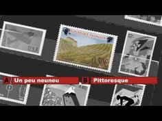 Une parcelle de vigne sur un timbre-poste