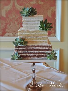 Ombre Naked Cake-- two classy tricks in one awesome square shape!