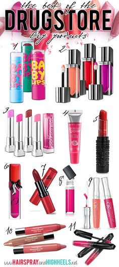 Keep those luscious lips looking their best with the best of these drugstore lip products!