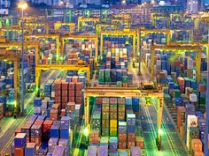 Global Logistics Media - Multicolored shipping containers at the Port of Singapore. http://www.globallogisticsmedia.com/articles/view/multicolored-shipping-containers-at-the-port-of-singapore