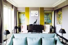 Living rooms with perfect pops of color - Vogue Living