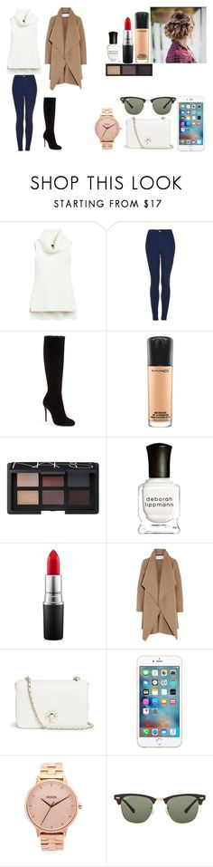 """Untitled #463"" by kalieh092 on Polyvore featuring White House Black Market, Topshop, Christian Louboutin, MAC Cosmetics, NARS Cosmetics, Deborah Lippmann, Harris Wharf London, Tory Burch, Nixon and Ray-Ban"