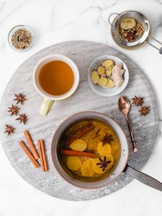 This ginger tea recipe will help with digestion, bloating, gas, and constipation. It's best to drink this hot ginger tea first thing in the morning or 30 minutes after a meal. Shot Recipes, Tea Recipes, Homemade Ginger Tea, Tea For Digestion, Masala Tea, Cinnamon Tea, Tea Sandwiches, Food Photography, Eat