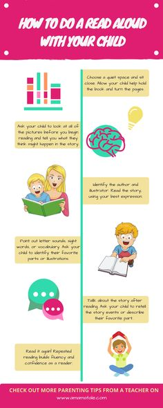 How to Do a Read Aloud with Your Child | Education | Preschool | Homeschool | Read Alouds | How to teach your child to read | For more tips, visit www.amamatale.com
