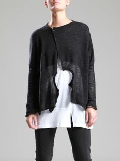 FINE WOOL KNITTED CARDIGAN