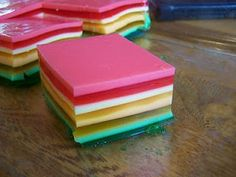 No way will this beat my aunt Teri's 7-layer jello, but this is one of the simplest recipes I've come across.