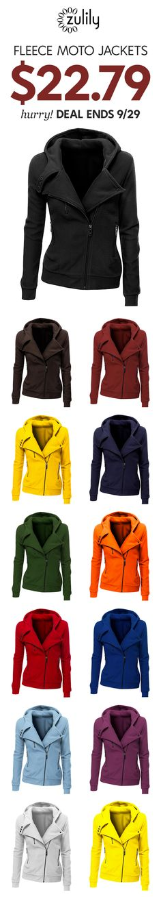 0df4651a13 Sign up to shop fleece moto jackets. Ready to rev up your fall look