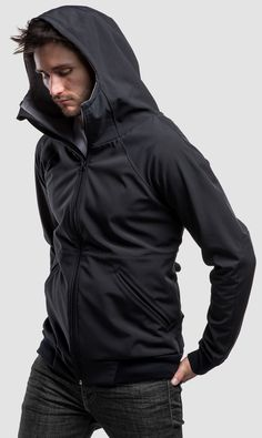 The big brother of the F(estival)-Hoody came straight from the North Pole. The soft shell material combining with unique tailori. Unique Fashion, Mens Fashion, Leather Label, Softshell, Pullover, Hoodies, Coat, Concrete, Jackets