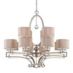 "Savoy House Rosendal Chandelier - metal & fabric, 36.13""H x 40"" Diameter, (12) 60 Watt bulbs  ~  [from the Simple Luxuries event at Joss & Main]"