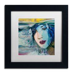 Andrea 'Celeste' White Matte, Wood Framed Wall Art
