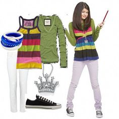 Selena Gomez wizards of waverly place Tv Show Outfits, Date Outfits, Outfits For Teens, Cool Outfits, Selena Gomez Cute, Selena Gomez Outfits, Selma Gomez, Alex Russo, Character Inspired Outfits