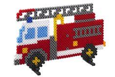 Fire engine hama beads