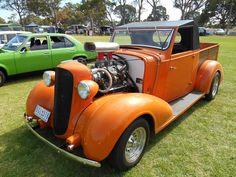 1936 cutdown Tourer converted to a wellback ute & hotrodded.