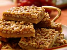 Claire Robinson's Pecan Bars : Brown sugar does double duty in this five-ingredient bar cookie, adding sweetness and molasses flavor.