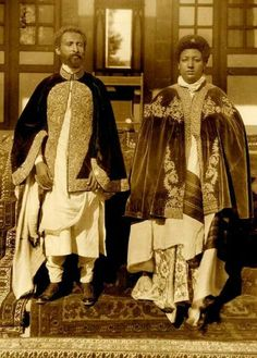 Haile Selassie I = H.M = Rastafari - Emperor Haile Selassie I + Empress Menen Black History Facts, Black History Month, Women's History, African Culture, African American History, Black King And Queen, King Queen, Ethiopian People, Afro
