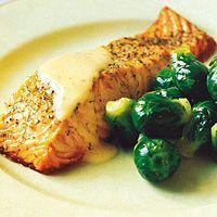 Salmon with Gravlax Sauce by Food & Wine
