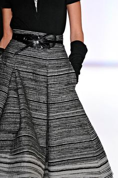 great skirt. drape works due to great fabric Carolina Herrera,