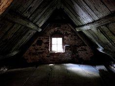 creepy attic in old farm house by melanoma, via Flickr