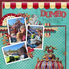 dumbo Disney Scrapbook Layout