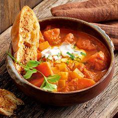 Kürbis-Steckrüben-Curry mit Würzfladenbrot Rezept | Küchengötter
