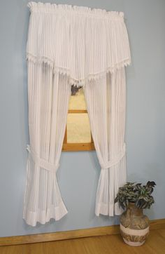 Curtain & Bath Outlet - Bay Breeze Semi Sheer Curtain Panel Pair