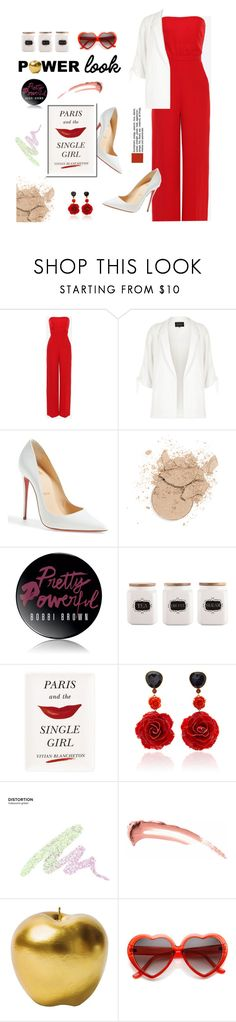 """Red Power!"" by j4wahir ❤ liked on Polyvore featuring Valentino, River Island, Christian Louboutin, Bobbi Brown Cosmetics, Kate Spade, Bahina, Urban Decay, Bitossi, red and contestentry"