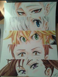 Meliodas,Nanatsu no Taizai,The Seven Deadly Sins, NnT,Anime,аниме,Ban (NnT),Diane (NnT),King (NnT),Elizabeth Liones,Anime Paint,Anime Art,Аниме арт, Аниме-арт