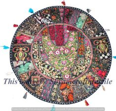 "32"" Patchwork Round Floor Pillow Cushion meditation Bohemian patchwork cushions #Handmade #BohemianPatchwork"