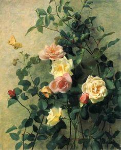 digbicks: Roses on a Wall (1877), George Cochran Lambdin