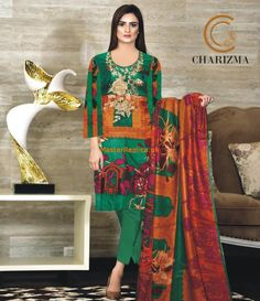 CHARIZMA Light Party Wear And Formal Wear at Retail and whole sale prices at Pakistan's Biggest Replica Online Store New Pakistani Dresses, Pakistani Dress Design, Formal Wear, Party Wear, Designer Dresses, Trousers, Sari, Dress Designs, Sleeves