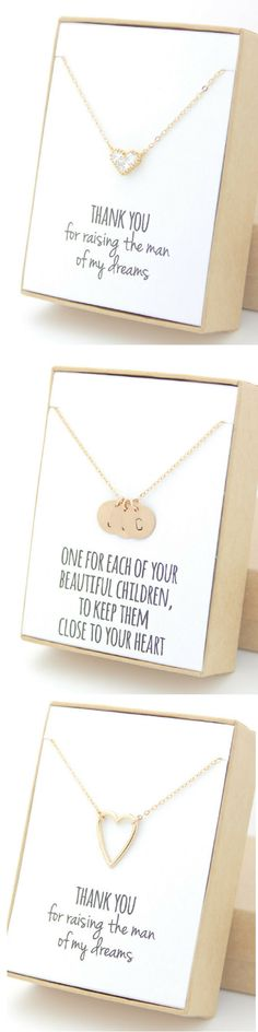 I love how cute and simple these necklaces are. I don\'t like heavy jewellery so these look perfect.   #goldjewellery #heartcharms #customjewellery #customgifts #giftsforwomen