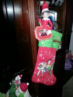 Elfie elfie made it to the other stocking