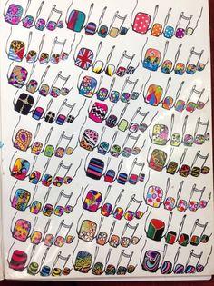 Cocoks Nail Art Designs Fancy Nail Art, Fancy Nails, Diy Nails, Manicure Y Pedicure, Feet Nails, Toe Nail Art, Nail Tech, Manicures, Beauty Nails
