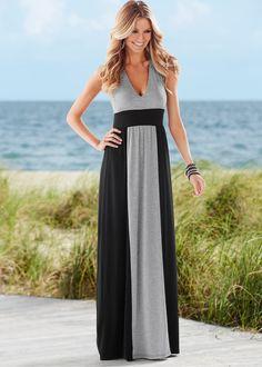 Vestido cinza mescla/preto encomendar agora na loja on-line bonprix.de R$ 119,00 a partir de Lindo vestido nas cores preto e mescla, com decote nadador. ...