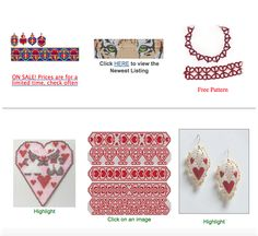 "Bead-Patterns.com Newsletter February 13,  2015 - Valentine ""Heart"" Beading Pattern"