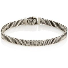 Title of Work Men's Adjustable Micro-Mesh Bracelet ($340) ❤ liked on Polyvore featuring men's fashion, men's jewelry, men's bracelets, silver, mens watches jewelry, mens adjustable bracelets and mens bracelets