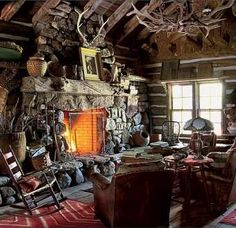 Another cabin on the ranch, 'Little Bear Cabin' named after a curious bear which frequented the area during construction. Cabin Homes, Log Homes, Colorado Ranch, Telluride Colorado, Montana Ranch, Colorado Usa, Cabins And Cottages, Log Cabins, Rustic Cabins