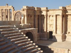 Palmyra was an ancient city in central Syria.  In antiquity, it was an important city located in an oasis 134 mi northeast of Damascus and 110 mi southwest of the Euphrates at Deir ez-Zor. It had long been a vital caravan stop for travellers crossing the Syrian desert and was known as the Bride of the Desert.