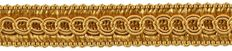 "54 Yard Package of 1/2"" Basic Trim Decorative Gimp Braid, Style# 0050SG Color: GOLD - C4 (164 Ft / 50 Meters)"