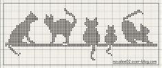 Cross stitich or Bead Loom idea....Schema punto croce Gatti-mono