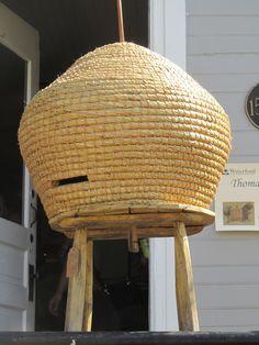 Vintage Beeskep on displayed at the Waterford, VA 2013 Fair.