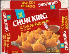 Oh, we used to buy these all the time. Yum!    1979 Chun King Shrimp Egg Rolls by gregg_koenig, via Flickr