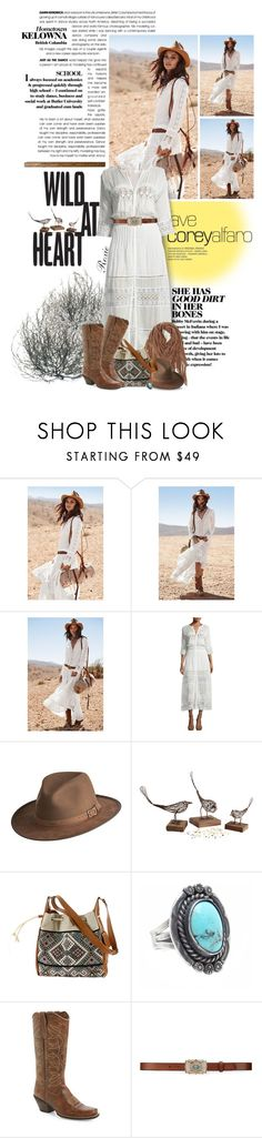 """""""Wild Prairie"""" by roxie ❤ liked on Polyvore featuring LoveShackFancy, Overland Sheepskin Co., Roxy, Child Of Wild, Ariat, Ralph Lauren and vintage"""