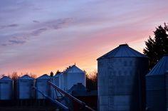 Sunset Grain Bins by Steph Peesker, via 500px  (Saskatchewan)