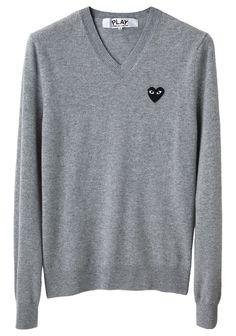 Comme Des Garcons Play men's emblem sweater.