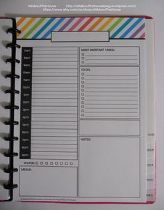 Daily Planner Day Planner Printable day to a page Rainbow PDF Editable Planner 2014 2015 Agenda Household Binder Calendar letter arc planner... https://www.etsy.com/au/listing/180060585/daily-planner-day-planner-printable-day?ref=shop_home_active_4