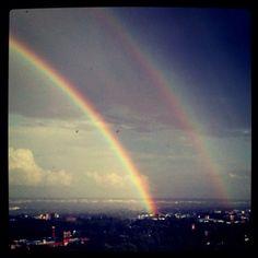 Double rainbow! Edmonton, AB 2011