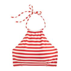 jcrew cropped bikini top in classic stripe